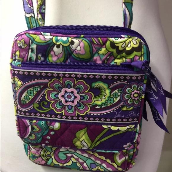 4208cfe6c0e1 NEW Vera Bradley Mini Hipster Crossbody - Purple